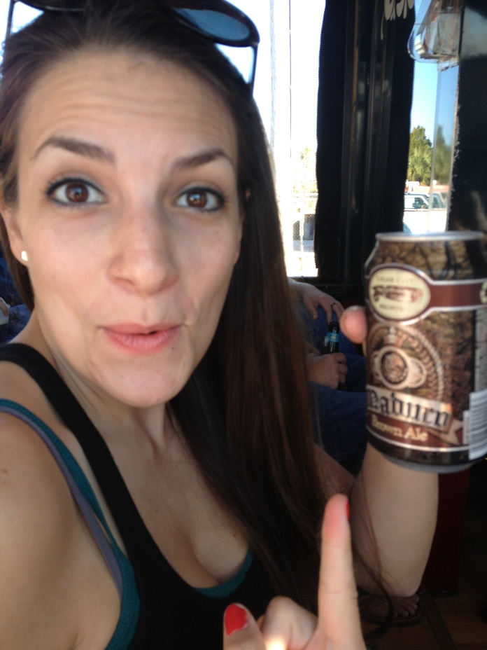 Katie's Trolley Beer. She's so CUTE.