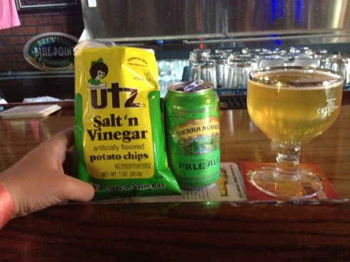 2nd Trolley Beer + Chips+ Dogfish Head Noble Rot = Color Coordinated