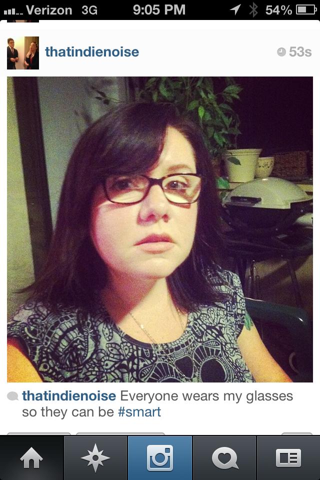 She Instagram'd it.