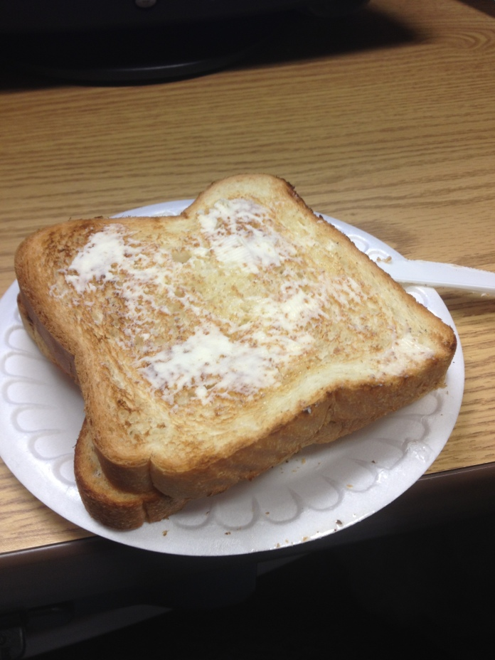 Buttered toast, obviously.
