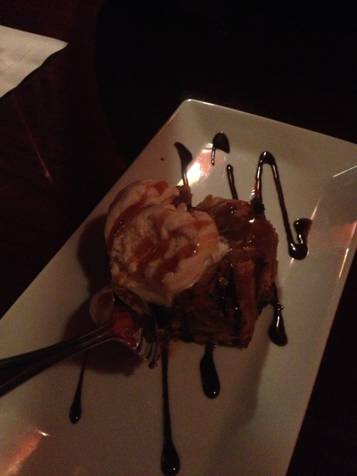 complimentary bread pudding