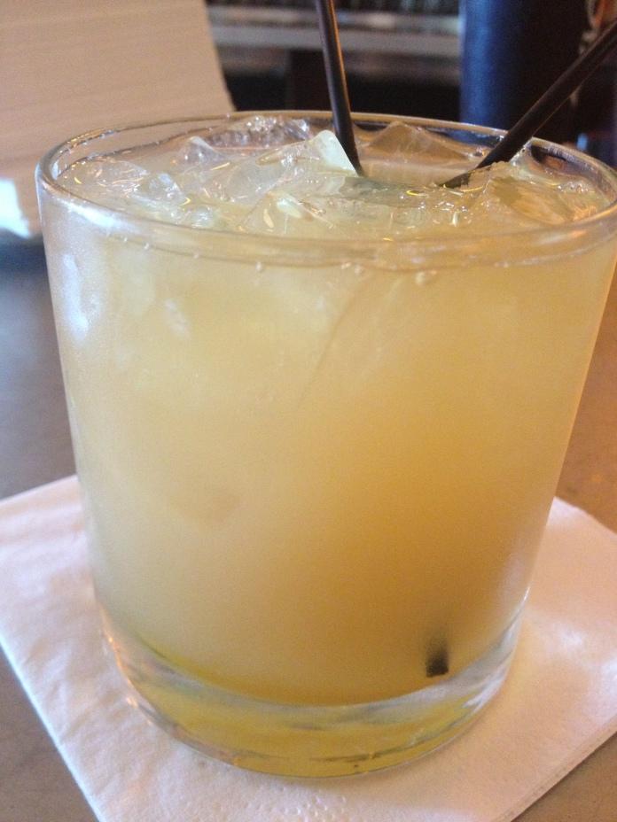 Bourbon and juice.
