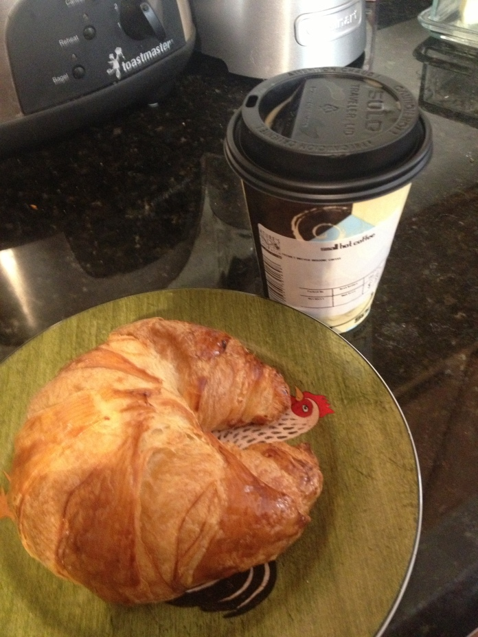 Coffee and the fluffiest croissant!