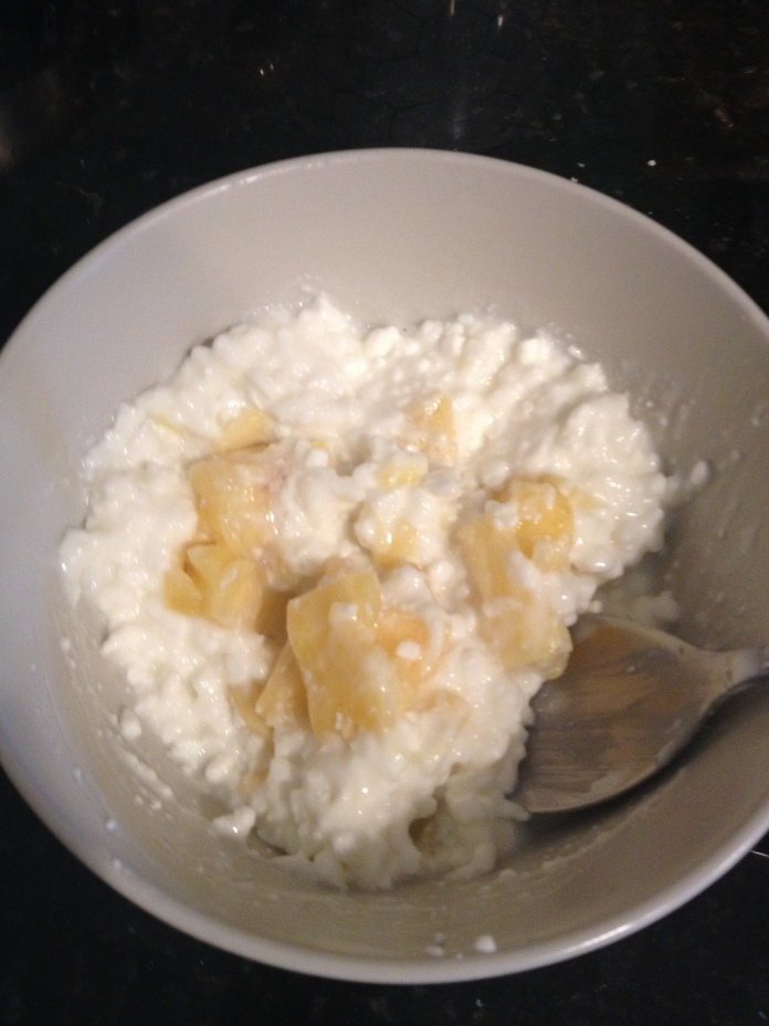 Cottage cheese and pineapple.