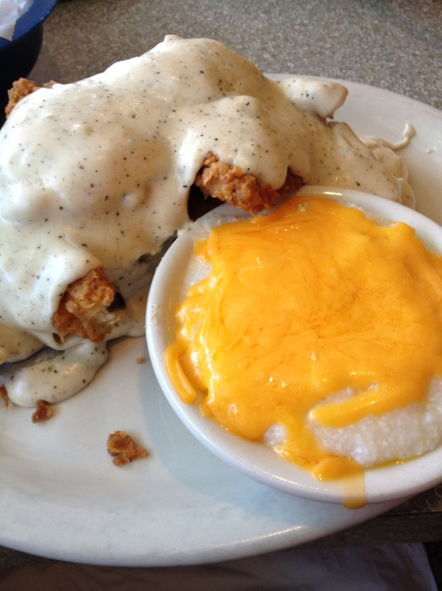 Oh yeah and cheese grits.