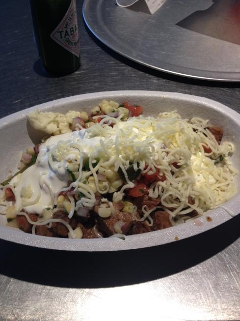 Burrito bowl, no beans.