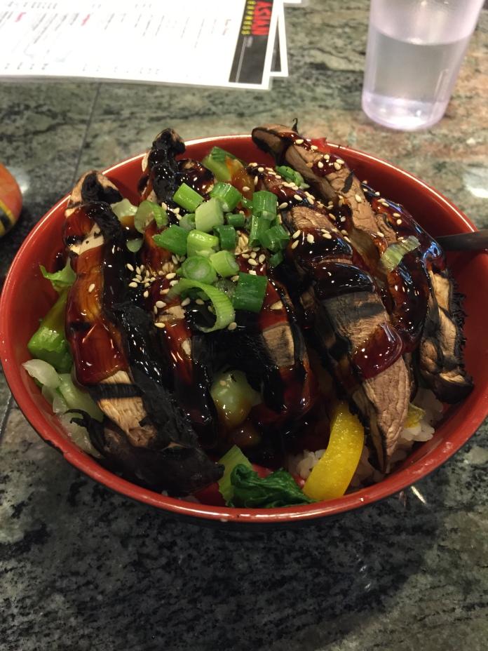 Mushroom rice bowl thing.