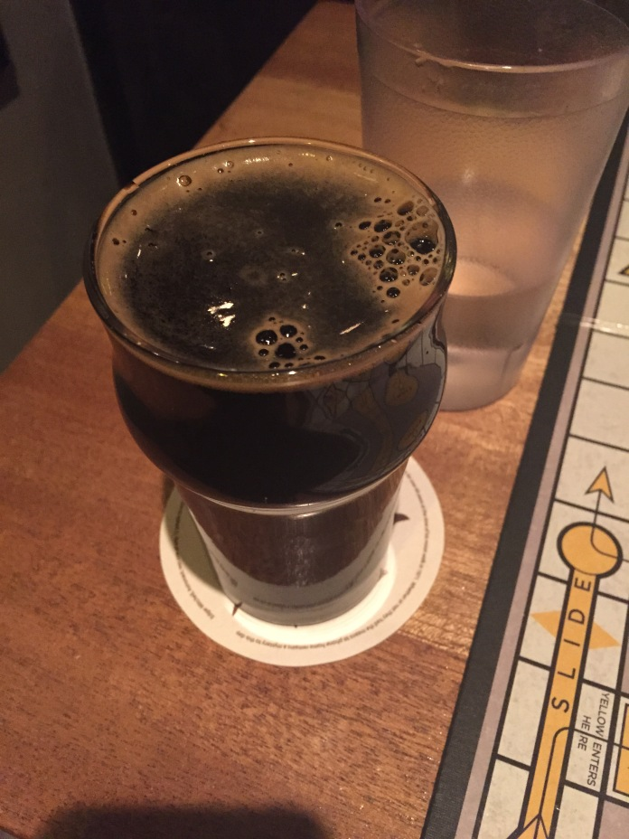 Then I quickly switched gears and ordered a stout with kahlua wood or something.