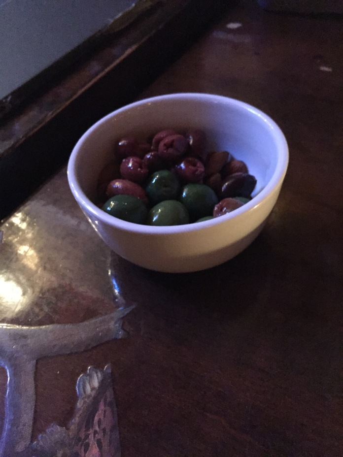 Oh and these olives and almonds.