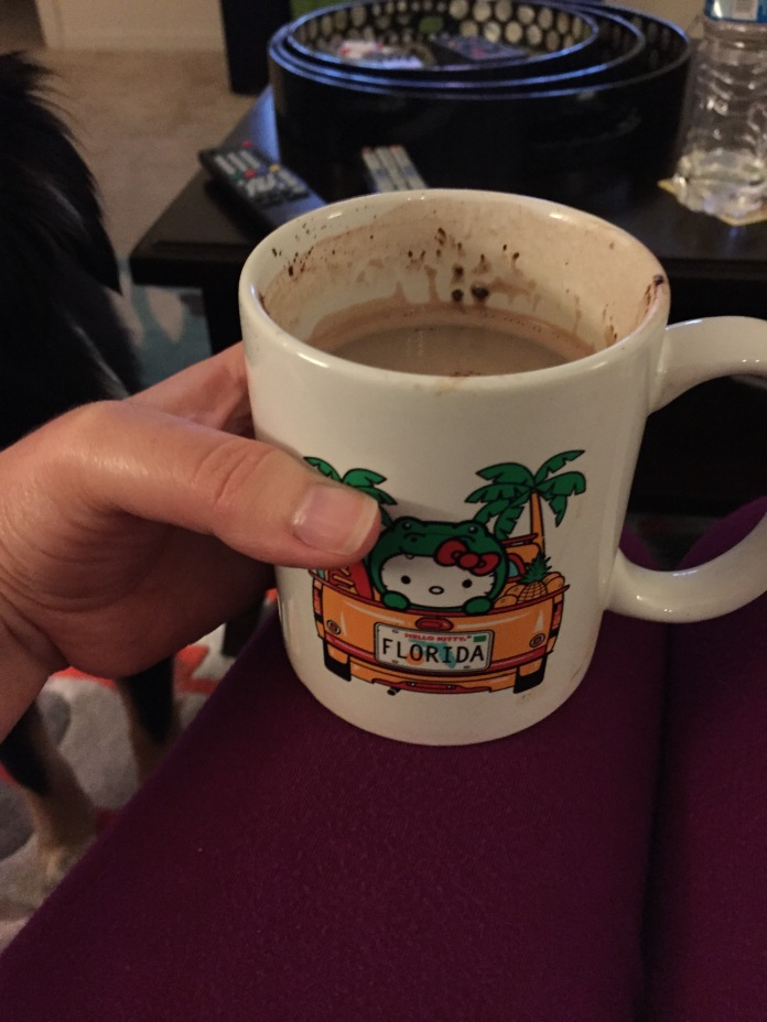 This hot chocolate.