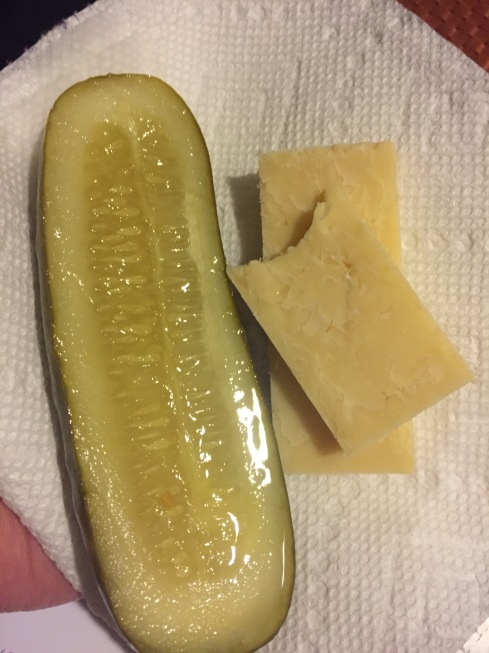 This pickle with cheese.
