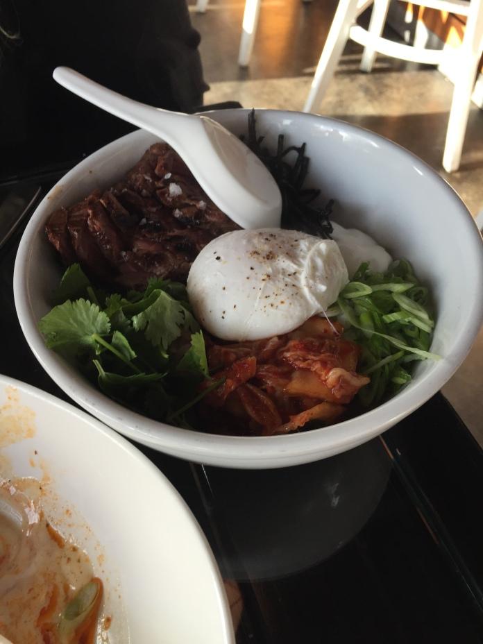 Steak rice bowl