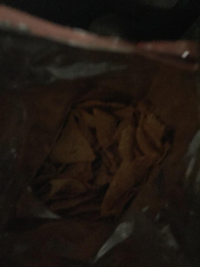 Dark bag.