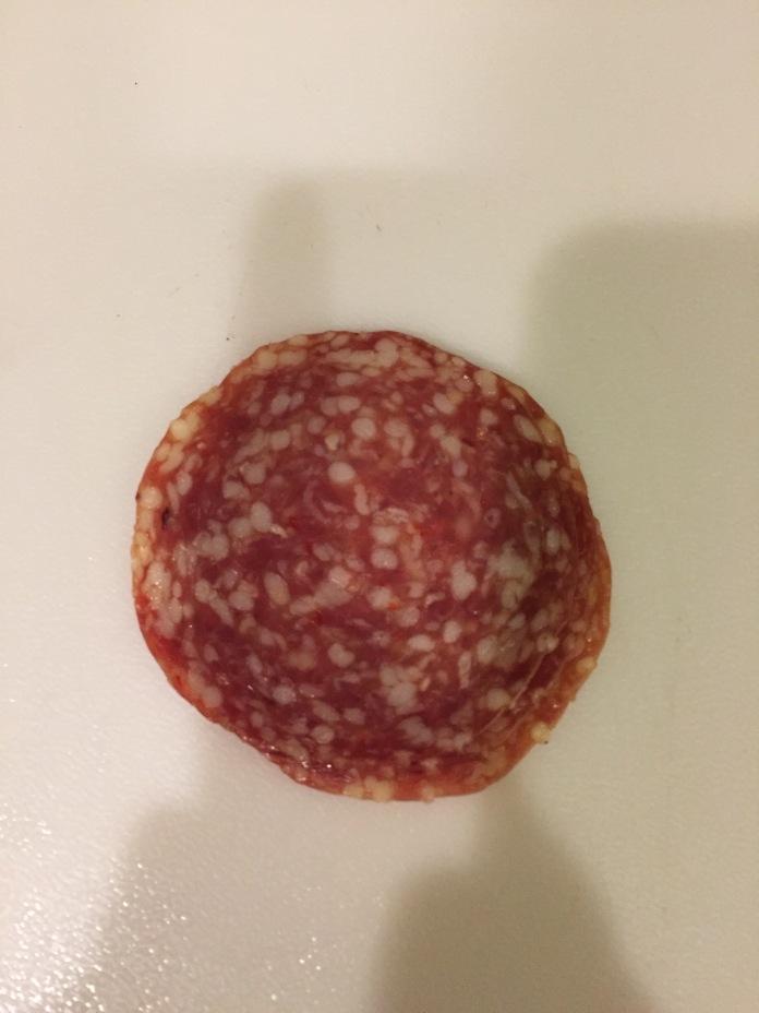 The last bit of salami.
