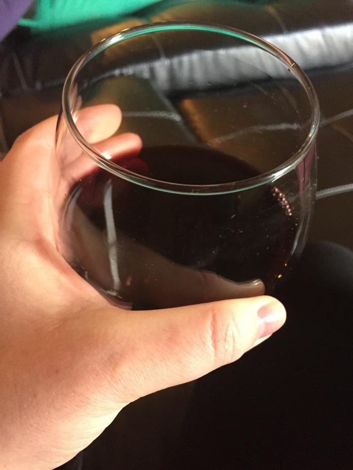 A little wine.