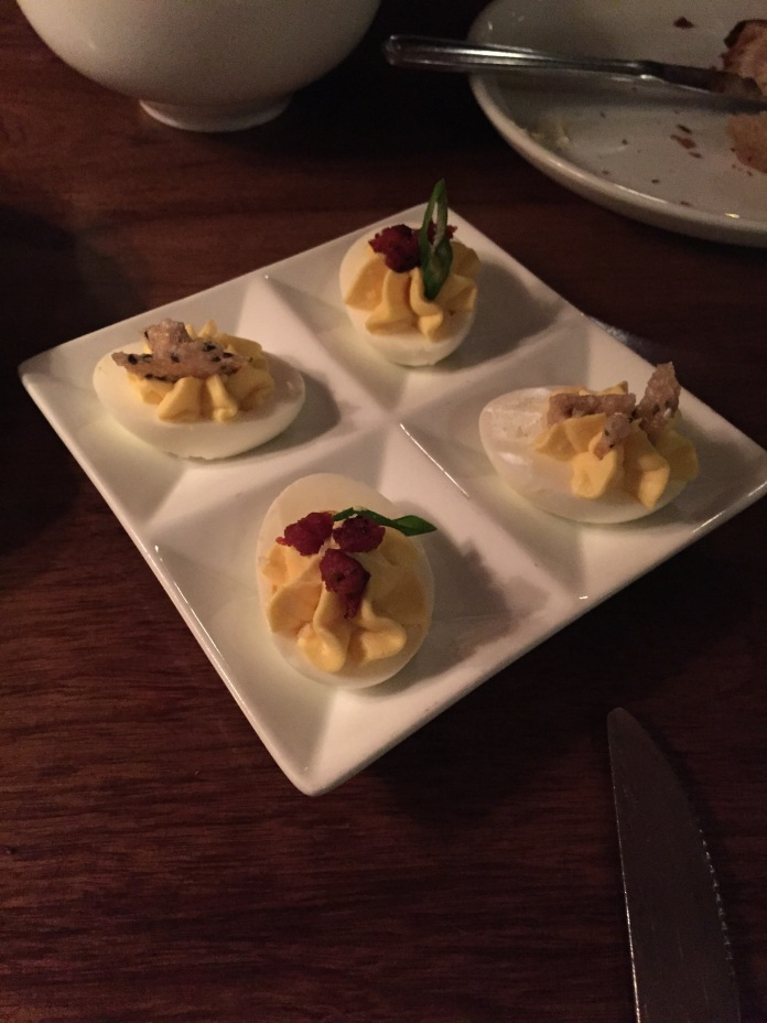 Acceptable deviled eggs.