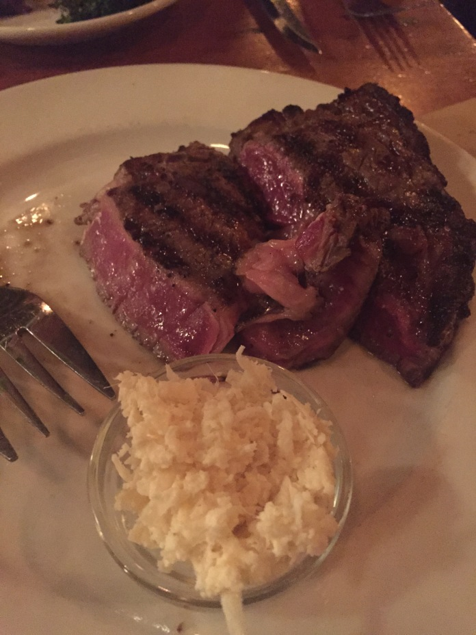 Shared ribeye (with fresh horseradish!!).