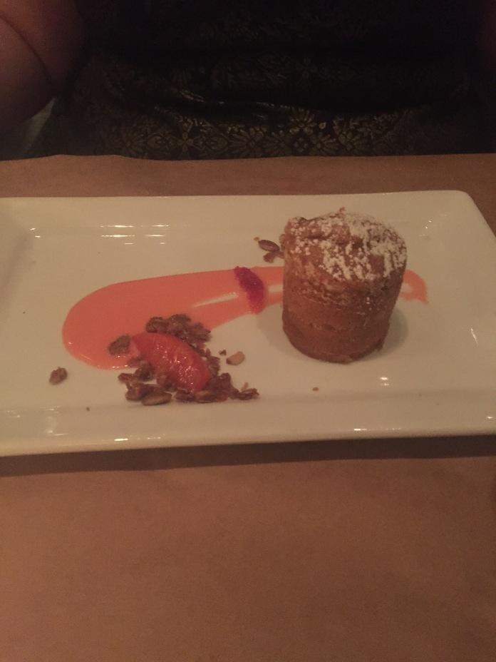 Redacted's raspberry caramel cake