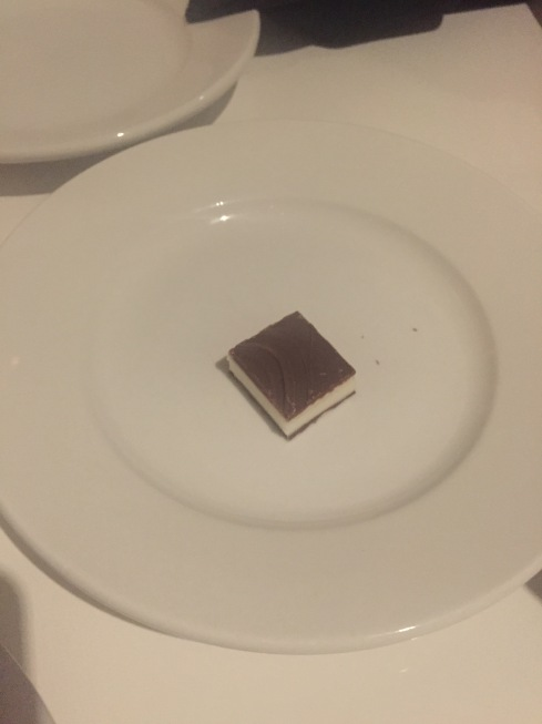 I only ate a bite of this mint; not enough chocolate.