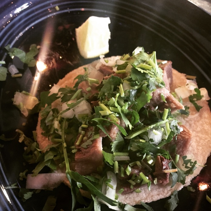and a lengua taco