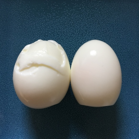 One peeled perfectly, the other was a stupid jerk.