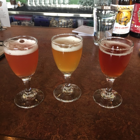 L to R: cranberry, ginger honey lime, Manhattan