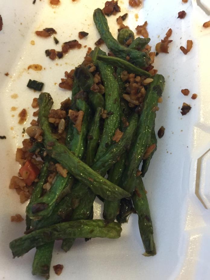 Last bit of green beans.