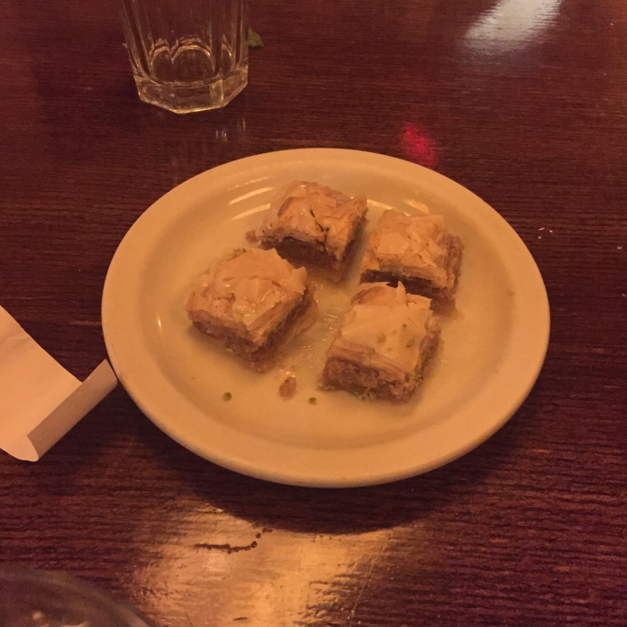 Baklava (I had two bc Sean doesn't like them)!