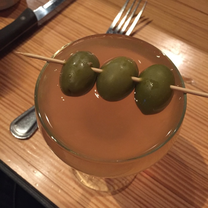 A very dirty martini