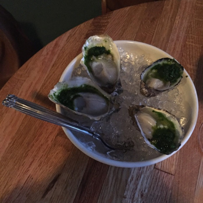 Two oysters each.