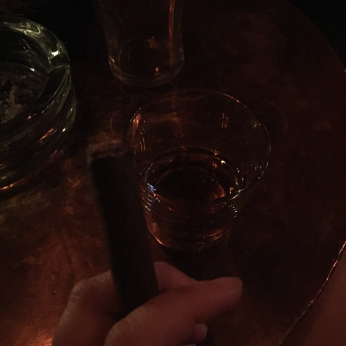 After show whiskey and cigars with Chris