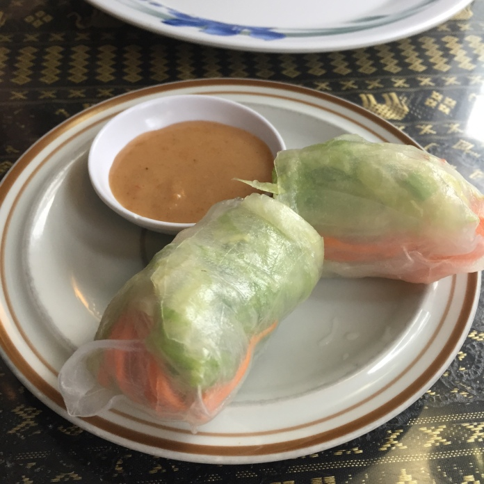 Complimentary summer rolls!