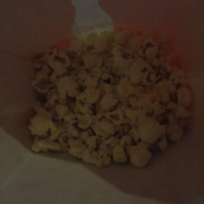 Popcorn, consumed while watching Trainwreck